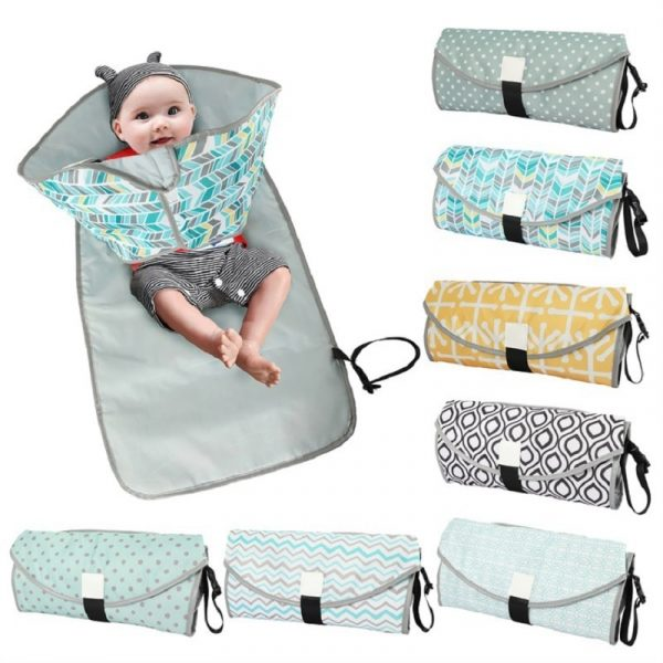 0 3 in 1 Multifuctional Baby Changing Mat Waterproof Portable Infant Napping Changing Cover Pads Travel Outdoor 1