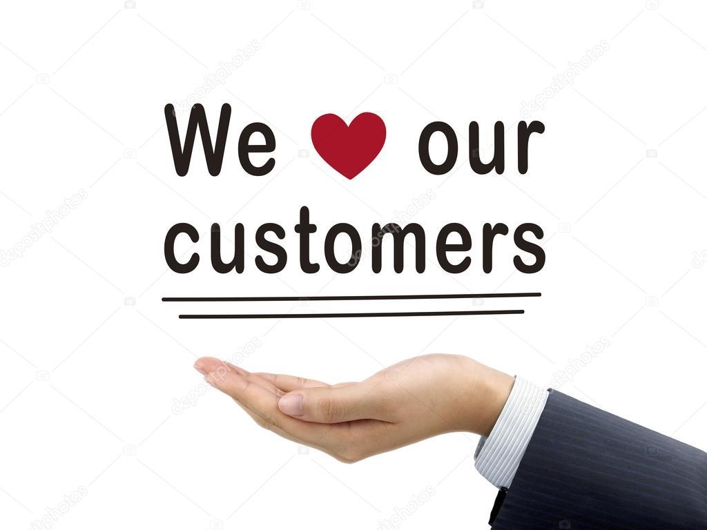 depositphotos 70350999 stockafbeelding wij houden onze klanten woorden