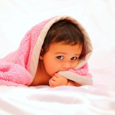 Babydeken roze
