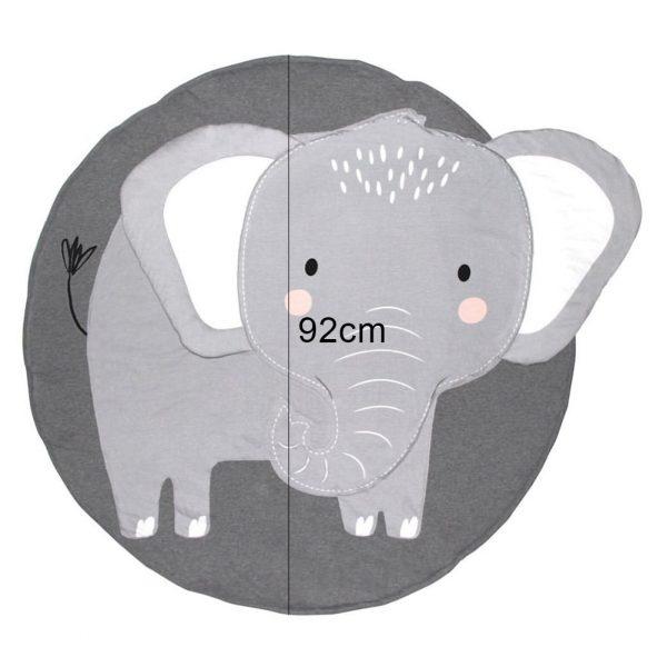 5 Spelen Mat Cartoon Olifant Baby Mat Pasgeboren Baby Kruipen Deken Katoen Ronde Floor Tapijt Tapijt Mat