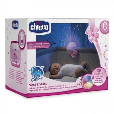 chicco projector next 2 stars meisjes 22 cm roze wit 2 379217 1586333332