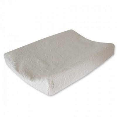 cottonbaby aankleedkussenhoes wafel 48 x 72 cm lichtgrijs 348494 1577974711