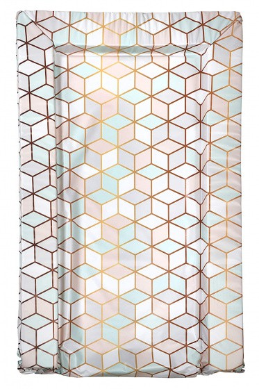 east coast aankleedkussen geometrische print roze mint wit 75 cm 378719 1586259100