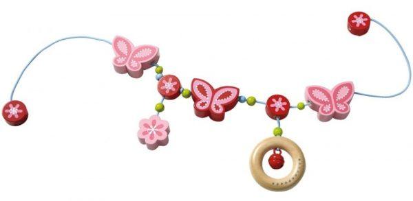 haba houten kinderwagenspanner vlindertovenarij 65 cm roze 273042 1548672470