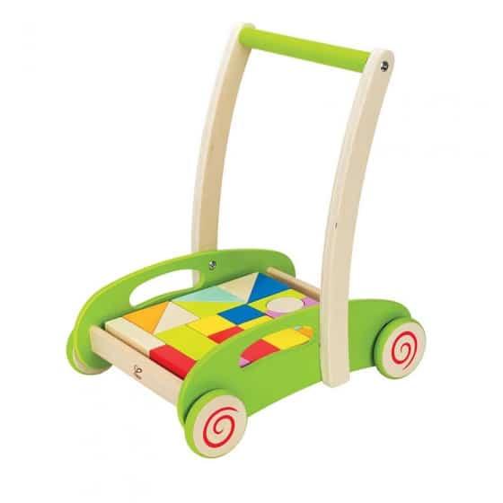 hape houten blokkenwagen groen 21 blokken 280810 1551770249