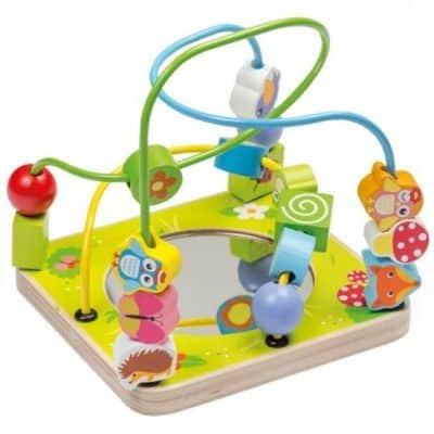joueco kralenbaan met spiegel junior hout 17 cm groen 328660 1572276949