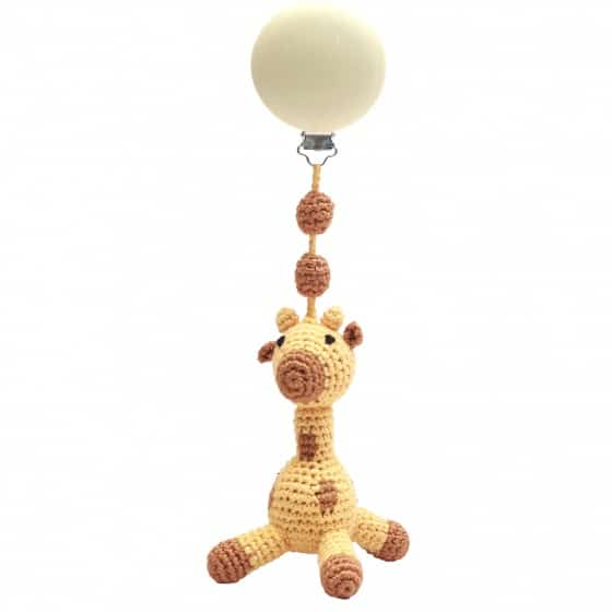 naturezoo kinderwagenhanger giraffe 20 cm geel bruin 339792 20191202104434