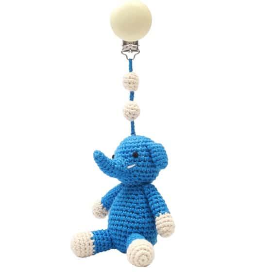 naturezoo kinderwagenhanger olifant 20 cm blauw 339846 1575279287