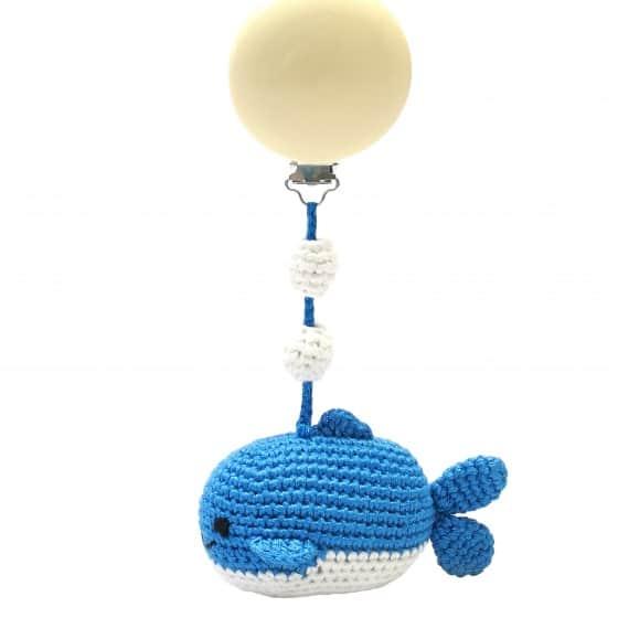naturezoo kinderwagenhanger walvis 20 cm blauw 339880 1575281087