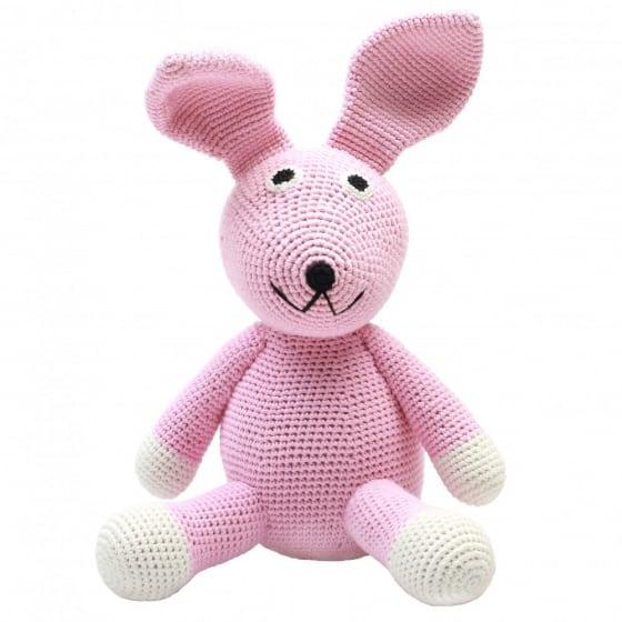 naturezoo knuffeldier konijn gehaakt 20 cm roze 332923 1573201538