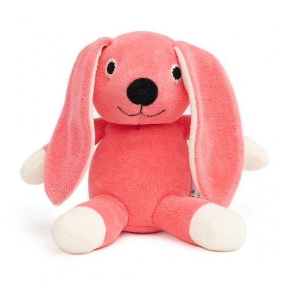 naturezoo knuffeldier konijn velours 18 cm roze 333557 1573459027
