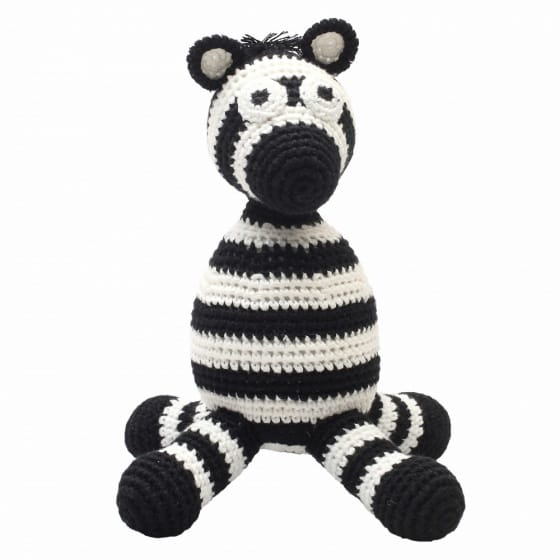 naturezoo knuffeldier zebra gehaakt 20 cm zwart wit 332903 1573200346