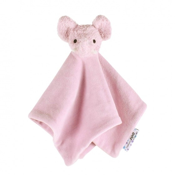 naturezoo knuffeldoekje olifant biologisch 32 cm roze 333587 1573461644
