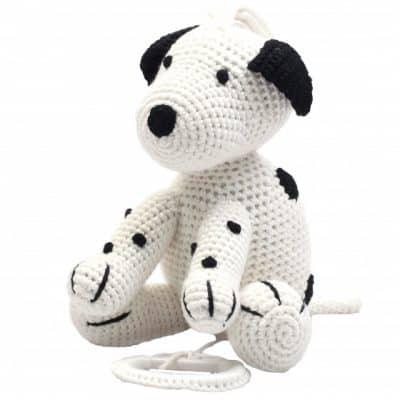 naturezoo muziekdoosje hond gehaakt 20 cm wit 339367 1575100382