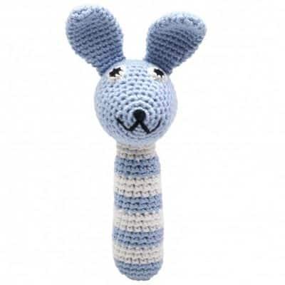 naturezoo rammelaar konijn gehaakt 14 cm lichtblauw 333033 1573210013
