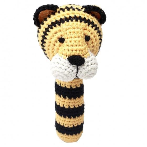naturezoo rammelaar tijger gehaakt 14 cm geel zwart 332980 20191108104920