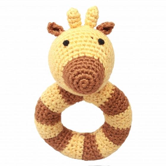 naturezoo ringrammelaar giraffe gehaakt 14 cm bruin 333072 1573212633