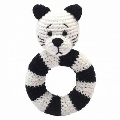 naturezoo ringrammelaar kat gehaakt 14 cm wit zwart 333109 1573216446