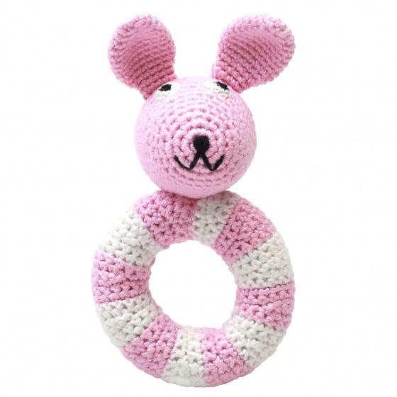 naturezoo ringrammelaar konijn gehaakt 14 cm roze 333124 1573218085