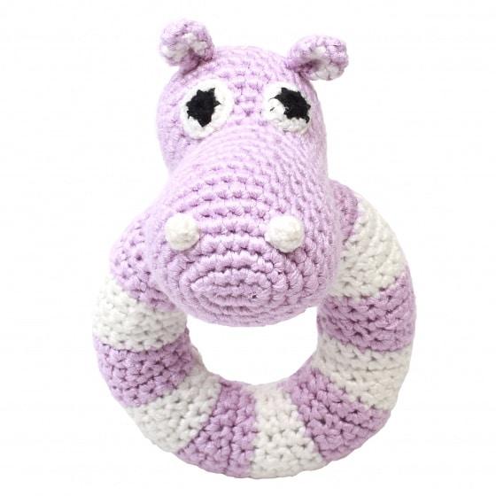 naturezoo ringrammelaar nijlpaard gehaakt 14 cm roze 333077 1573214810