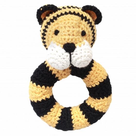 naturezoo ringrammelaar tijger gehaakt 14 cm geel zwart 333087 1573215285