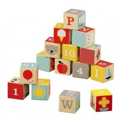 petit collage bouwblokken abc hout 15 delig 327618 1572070587