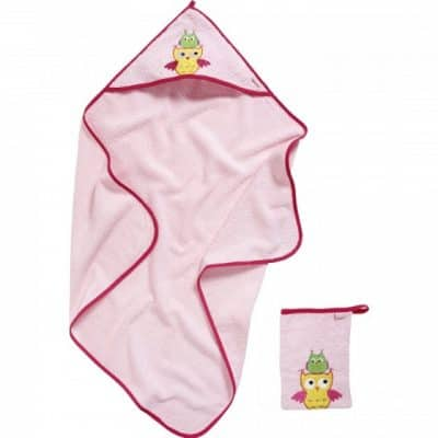 playshoes badset in cadeauverpakking uilen 2 delig roze 2 331100 1572611185
