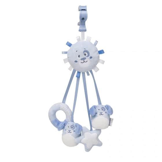 saro hangfiguur met linten en rammel hond blauw 349584 1578325372