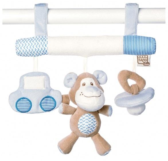 saro kinderwagenhanger met rammelaar little friends blauw 349683 1578384309