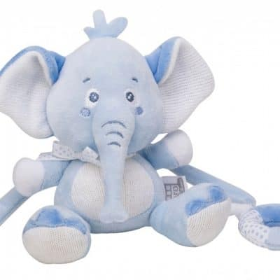 saro knuffel olifant met muziek 22 cm blauw 349464 1578316776