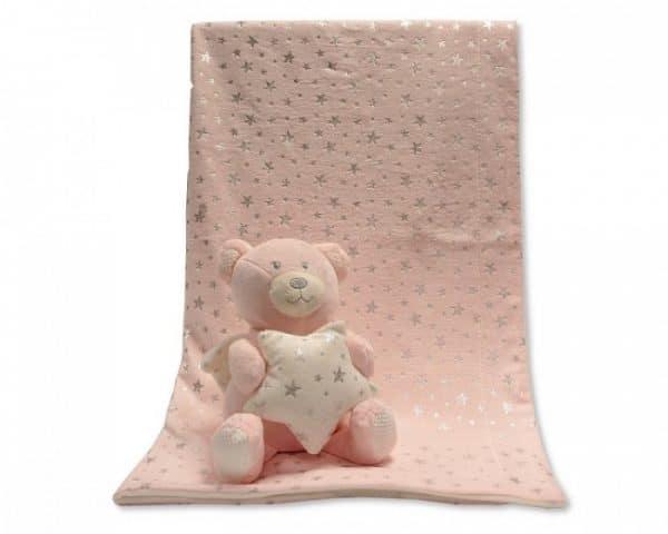 snuggle baby babydeken met knuffel beer roze set 2 delig 348629 1578036037
