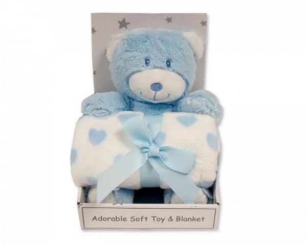 snuggle baby babydeken met knuffelbeer hart 25 cm lichtblauw set 2 delig 348737 1578044469