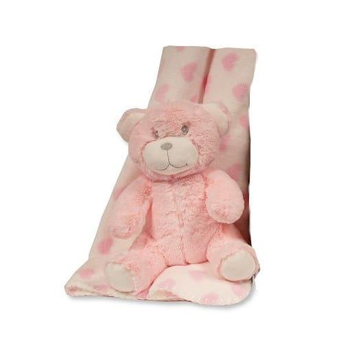 snuggle baby babydeken met knuffelbeer hart 25 cm roze set 2 delig 348734 1578044345