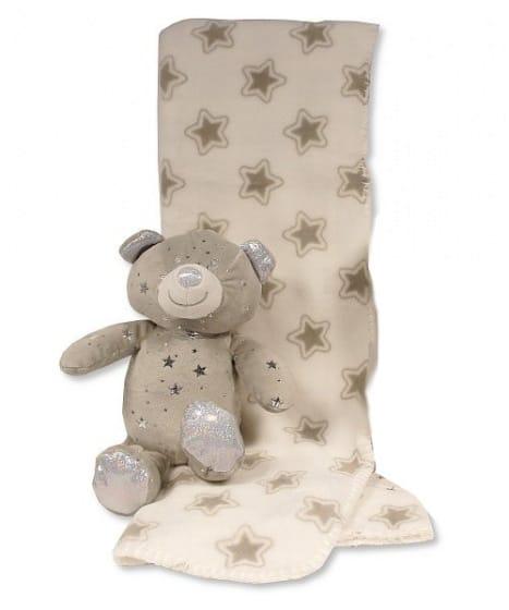 snuggle baby babydeken met knuffelbeer sterren 23 cm grijs set 2 delig 2 348699 1578041211