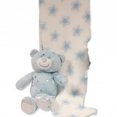 snuggle baby babydeken met knuffelbeer sterren 23 cm lichtblauw set 2 delig 2 348705 1578041556