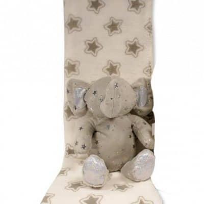 snuggle baby babydeken met knuffelolifant sterren 23 cm grijs set 2 delig 2 348712 1578042141