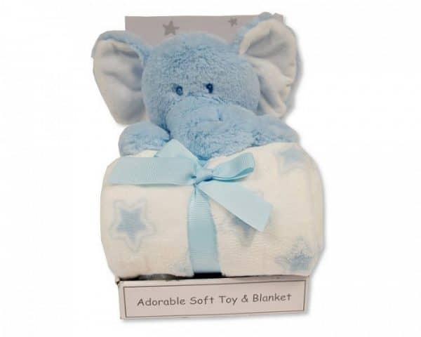 snuggle baby babydeken met knuffelolifant sterren 25 cm lichtblauw set 2 delig 348745 1578044923