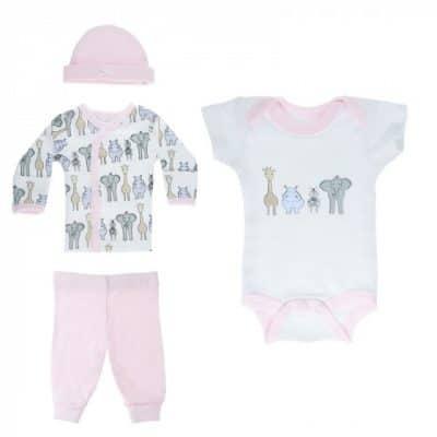 soft touch babykleding safari set 4 delig meisjes wit roze 374308 1585563289