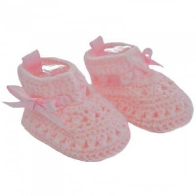 soft touch babyslofjes gehaakt meisjes roze 0 3 maanden 334396 1573649845