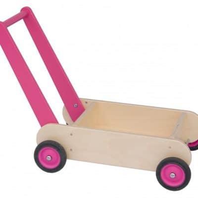 van dijk toys blokkenduwwagen 55 cm roze 309447 1565342010