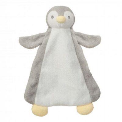 aurora knuffeldoekje pompom baby pinguin 26 cm roze 289900 1556098660
