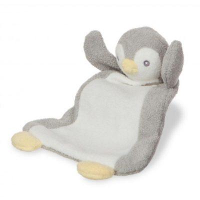 aurora knuffeldoekje pompom baby pinguin 26 cm roze 2 289900 1556098660