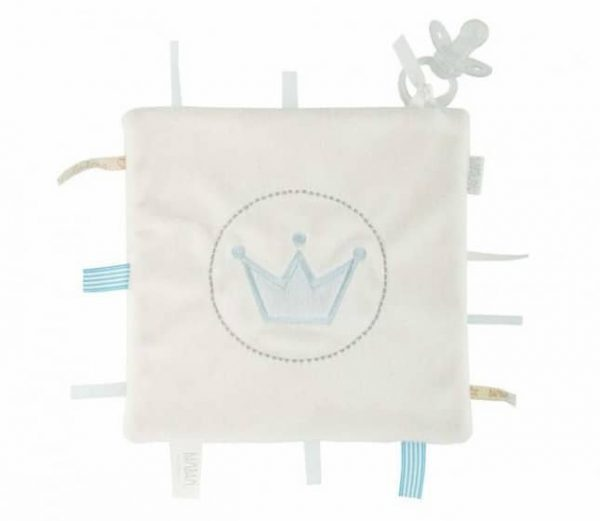 bambam knuffeldoekje crown label tuttle junior pluche blauw 357677 1580213430