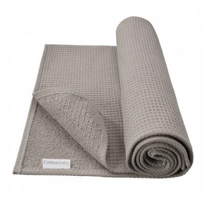 cottonbaby ledikantdeken wafel katoen 120 x 150 cm donkergrijs 348447 1577969352