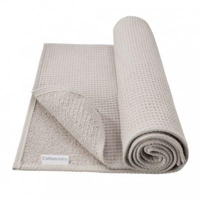 cottonbaby ledikantdeken wafel katoen 120 x 150 cm lichtgrijs 348451 1577969783