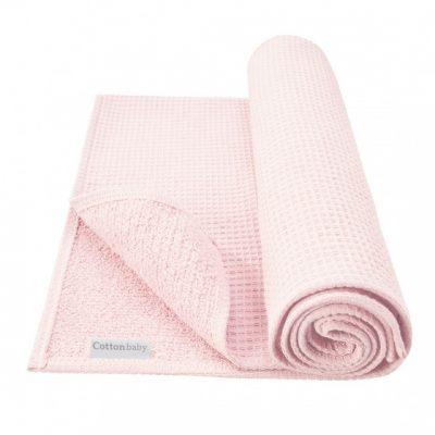 cottonbaby ledikantdeken wafel katoen 120 x 150 cm roze 348474 1577972361