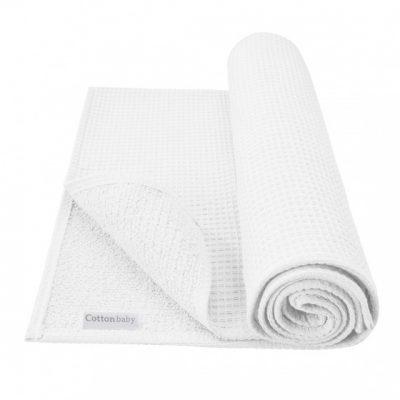 cottonbaby ledikantdeken wafel katoen 120 x 150 cm wit 348478 1577972592