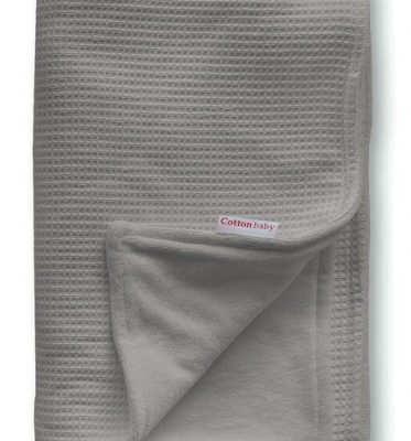 cottonbaby wiegdeken katoen gevoerd 75 x 95 cm donkergrijs 348531 1577976349