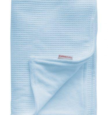 cottonbaby wiegdeken katoen gevoerd 75 x 95 cm lichtblauw 348533 1577976530