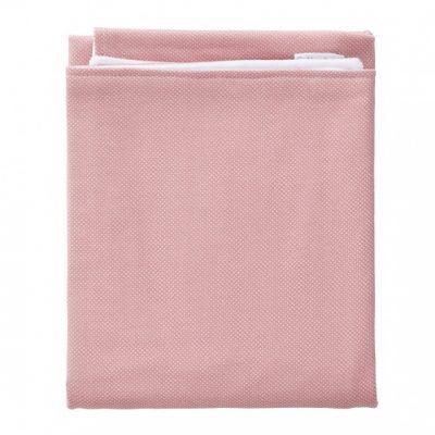 cottonbaby wiegdeken stip katoen 75 x 95 cm oudroze wit 348609 1578034247